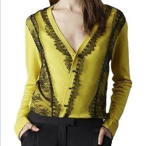 Marchesa Voyage Lace Knit Cardigan - BRAND NEW